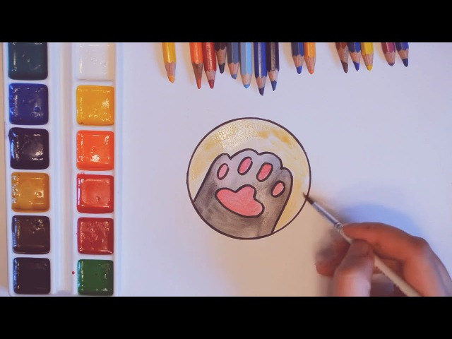 Привет от кота Пушина! Как нарисовать лапку Пушина. Рисуем кота Пушина Pusheen the Cat