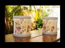 Reciclagem: Balde de Tinta Decorado com Decoupage