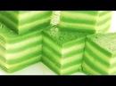 Канум Чан . Steamed Layer Cake (Thai Dessert) - Khanom Chun