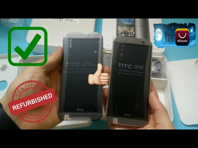 Распаковка HTC One M9 и HTC One M8 c Aliexpress 2017 год