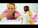 Видео для девочек. ДЕНЬ РОЖДЕНИЯ🎁 Барби в САЛОНЕ КРАСОТЫ массаж, маска и приче ...