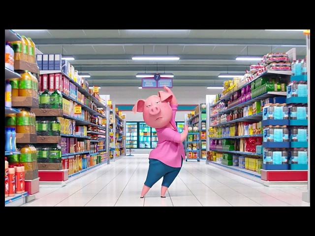 Мультфільм Співай Сцена у супермаркеті Розіта танцює під пісню BAMBOLEO HD