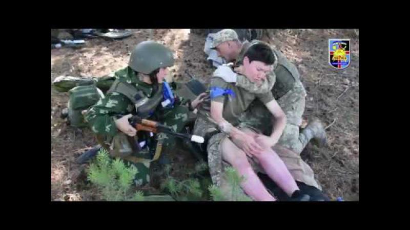 Фінальні іспити центр тактмеду в Десні випускає перший курс санітарів взводу