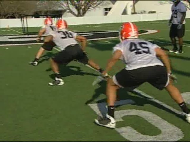 Georgia Bulldogs Linebacker Drills