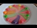 Вот такой незатейливый фокус и наглядное пособие о красителях можно показать детям. Вам понадобятся Skittles и вода.