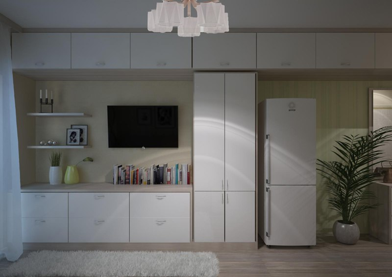 Проект маленькой студии 19 м (без учета лоджии) от компании-застройщика Новый Дом, Владивосток.