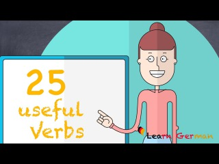 Learn German   German for daily use   25 useful verbs for beginners