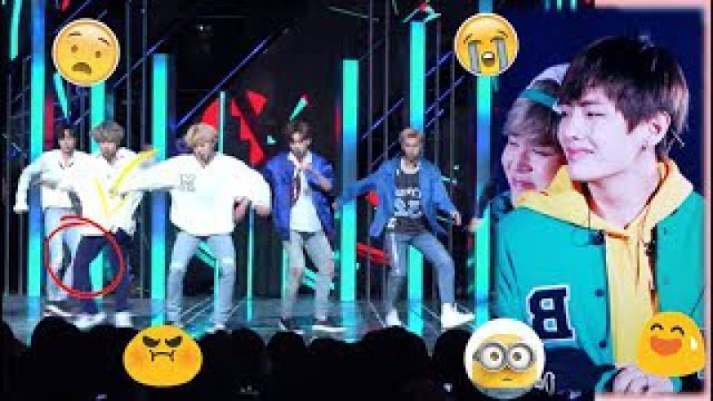BTS TAEHYUNG Accident while Performing on Stage (All Scenes)