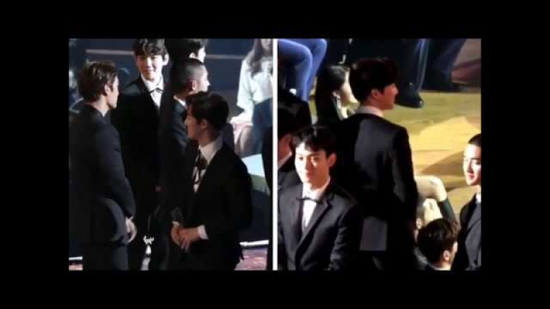 Suho Eunji Asia Artist Awards 2017 cute moment