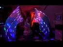 Восточный танец с веерами вейлами вейлы со светящейся тканью!