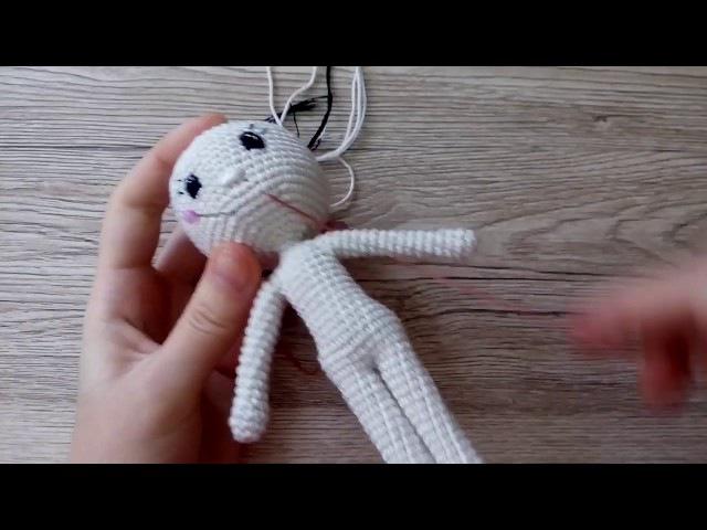 Как вышить лицо вязаной кукле для начинающих