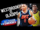 Russell Westbrook vs Victor Oladipo PG Duel 2017.12.13 - Vic With 19-6-5, Russ With 10-17-12 TD!
