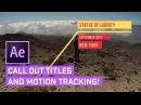 Call Out TITLES After Effects AUTO Motion Tracking