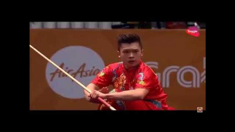 14 ЧМ по спортивному ушу 2017 |SEA GAMES 2017|men's daoshu and gunshu| Jowen Lim