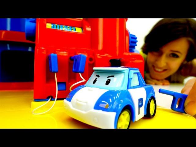 Robocar Poli español 🚒 🚓🚑 Guardería Infantil el Segundo Turno. Vídeos de juguetes ROBOCARS
