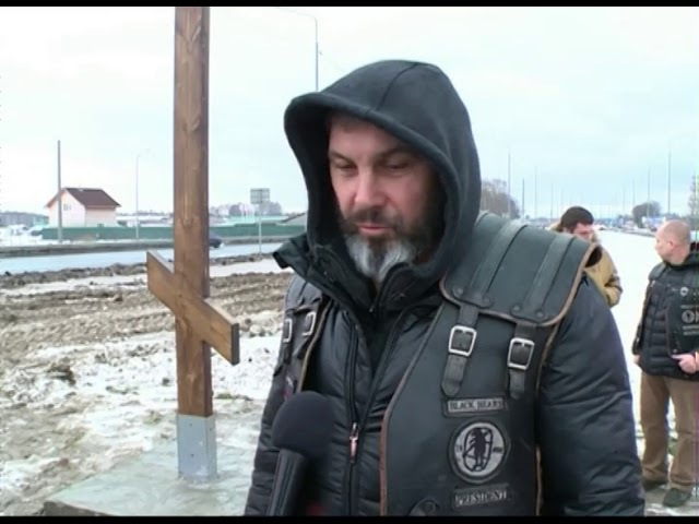 Между Ярославлем и посёлком Кузнечиха на трассе М-8 установили поклонный крест