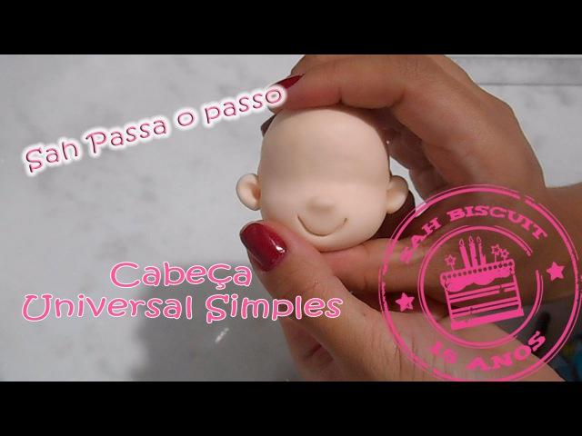 Cabeça universal simples - Sah Passa o passo - Sah Biscuit Especial 15 anos 1