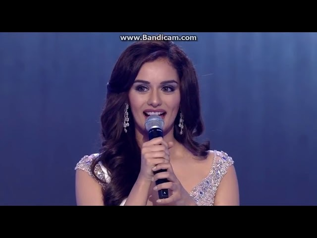 Manushi Chhillar (India) is Miss World 2017 Final Top 5 Question and Answer