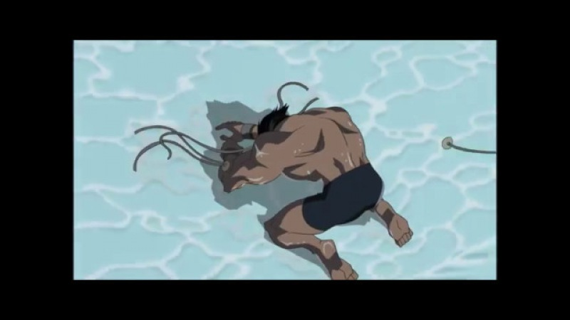 Леди Смертельный Удар и Саблезубый пытаются убить Росомаху. Халк против Росомахи (2009).
