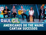 Grupo americano The Maine canta sucessos Programa Raul Gil (290717)