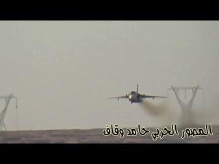 Маловысотный полет Су 24М2 ВКС РФ ниже ЛЭП в Сирии