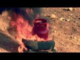 Полный газовый баллон (27л) в огне. Full 27 litters gas tank in fire