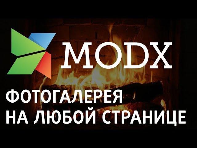 Фотогалерея на любой странице на Modx «Ядвига:Стартовый пакет»