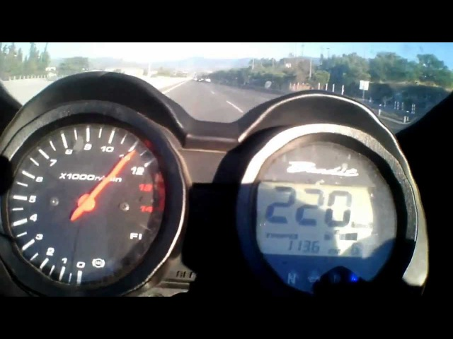 Suzuki Bandit 650 top speed acceleration test 0-160 0-100 0-200 250kph