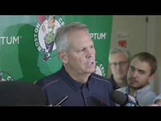 Celtics General Manager, Danny Ainge, officially announces the signing of Gordon Hayward