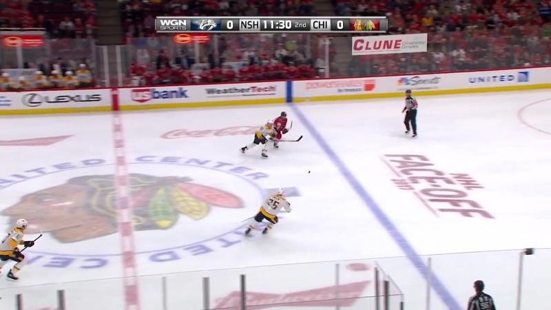 НХЛ - регулярный чемпионат. Чикаго Блэкхоукс - Нэшвилл Предаторз - 2:1 ОТ (0:0, 0:1, 1:0, 1:0)