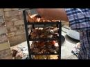 Процесс приготовления мяса и овошей в тандыре