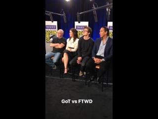 Дэниел и каст «БХМ» за кадром интервью для «Yahoo» в рамках «Комик-Кона» в Сан-Диего, Калифорния, США   21.07.17