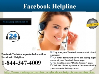 Dial 1-844-347-4009 Help for Facebook Number for Instant Response