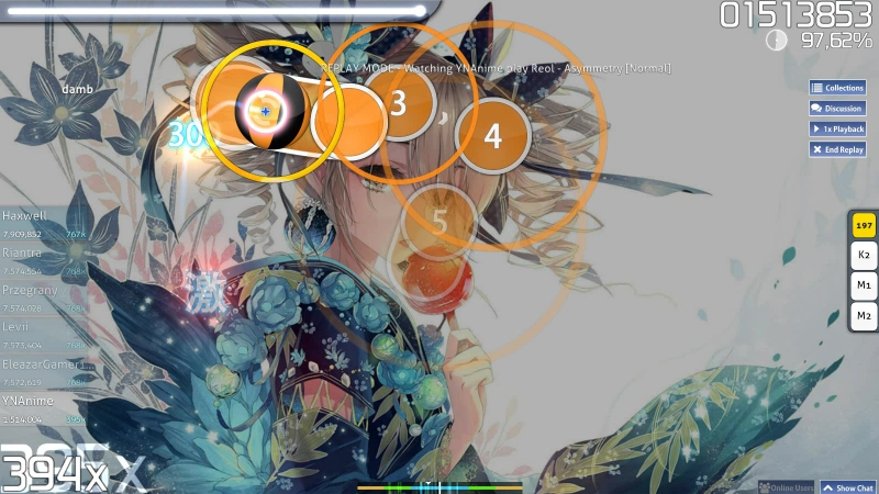 Osu! Reol - Asymmetry full combo 97,05% normal