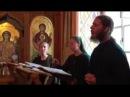 Russian monk singing the Lord's prayer in Syriac Aramaic