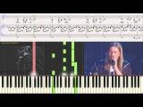 Океан пустоты - гр. Эпидемия (Ноты для фортепиано) (piano cover)