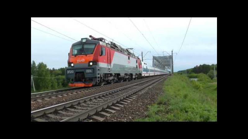 ЭП20 004 с фирменным поездом СТРИЖ