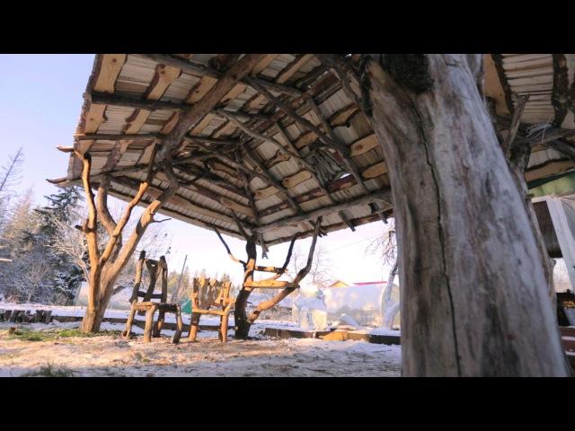 Беседка с вальмовой крышей в рустикальном стиле FORUMHOUSE