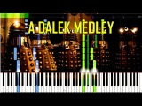 A Dalek Medley - Doctor Who Synthesia Piano Tutorial