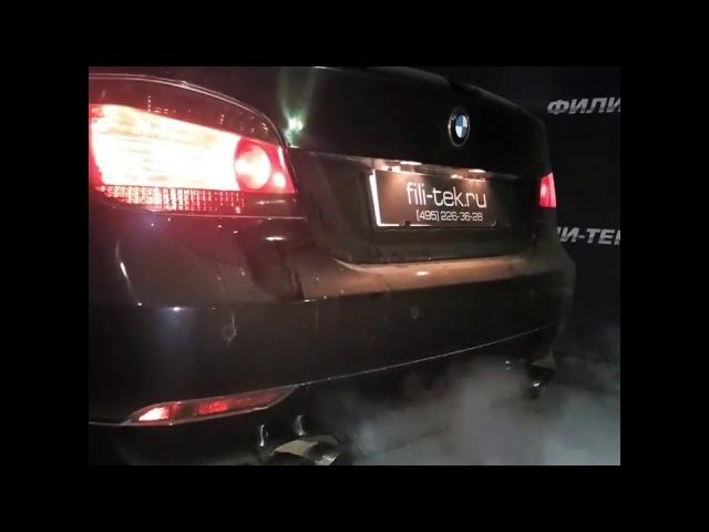 Спортивные глушители на BMW 5er в кузове E60 с мотором 4.4