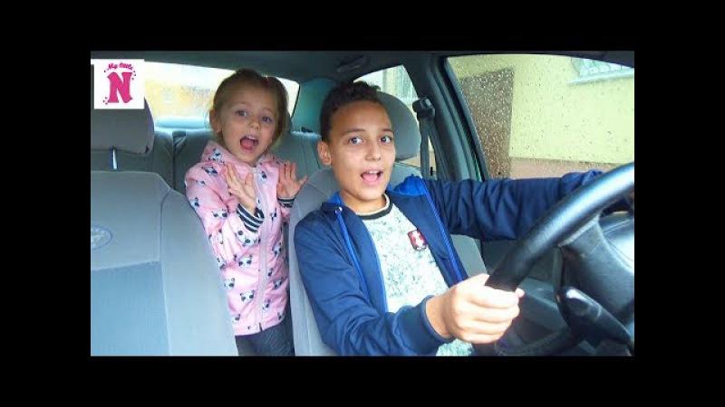 Pranks Bad Baby Уехали на машине родителей в магазин Bad Kids Driving Parents Car in Real Life