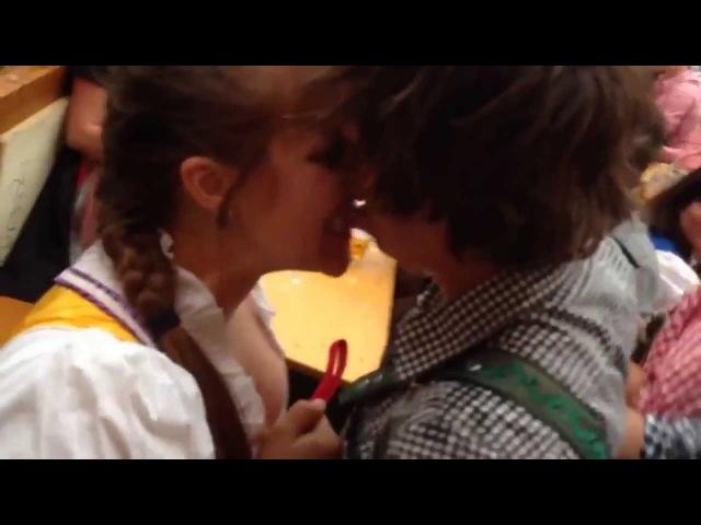 Woman Bites Guys Lip Off At Oktoberfest 2013 (Original Version)