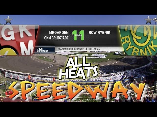 Speedway 2017 PGE Ekstraliga Round 11 MRGARDEN GKM Grudziądz VS ROW Rybnik All Heats