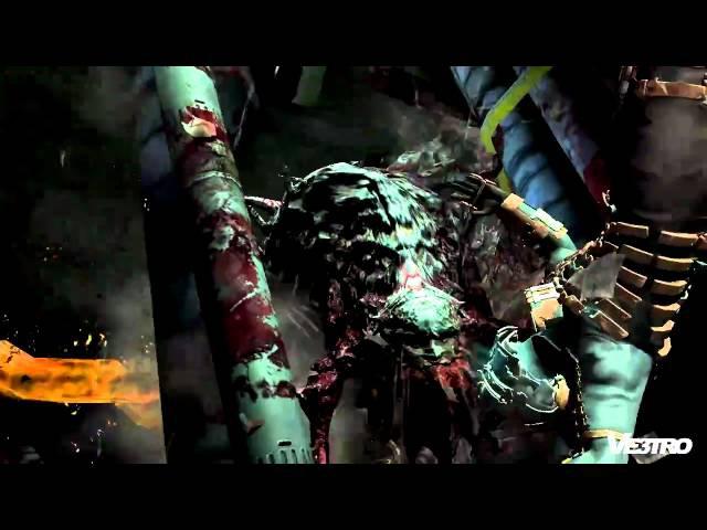 Dead Space 2 Big Necromorph Boss Battle Gameplay (HD 720p)