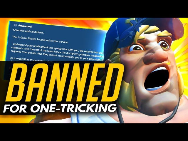 Overwatch | BANNED For One Tricking - Officially Bannable Offence?