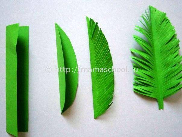 Как сделать листочки из бумаги