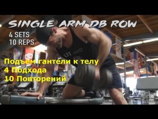 На один шаг ближе - Тренировка спины и задних дельт 12WP P1D1