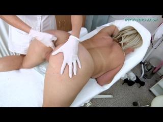 Gyno-x kristen klark [medical fetish, gyno exam, close ups, vaginal & anal enema, big tits, tampon, piss]