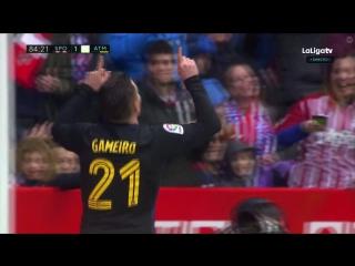 Спортинг Хихон - Атлетико 1:4. Обзор матча. Ла Лига 2016/17. 23 тур.