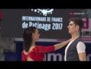 Internationaux de France 2017 Ice Dance SD Lorenza ALESSANDRINI Pierre SOUQUET